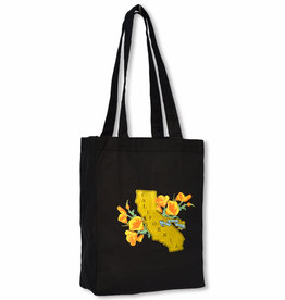 Golden State Black Tote Bag