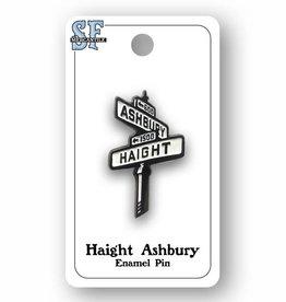 Haight Ashbury Street Sign Enamel Pin