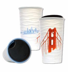 SF Fog Double Wall Ceramic Travel Mug