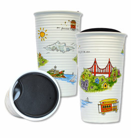 Halfway to the Stars Double Wall Ceramic Travel Mug