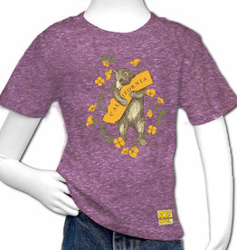 Bear & Poppy Kids Tee, Tri-blend Purple