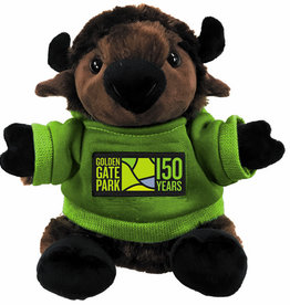 "GGP 9"" Plush Bison with Green Hoodie"