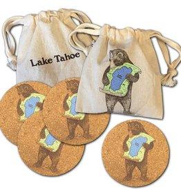 Lake Tahoe Bear Set/4 Coasters