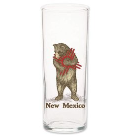 NM Zia Bear Glass Shooter