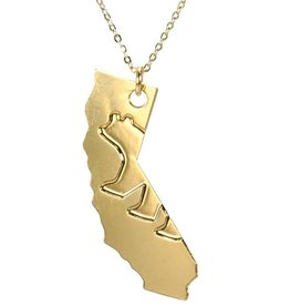 CA Bear Gold Plated Necklace