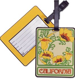 California Poppy PVC Luggage Tag