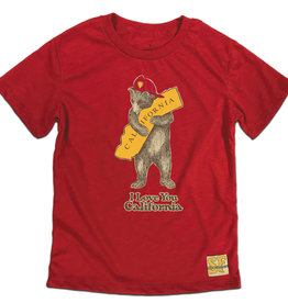 Kids CA Firefighter Bear Tee