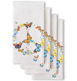 SF Mercantile Butterfly Peace Sign Flour Sack Tea Towel