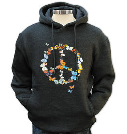 SF Mercantile Butterfly Peace Pull Over Unisex (men's) Hoodie