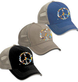 SF Mercantile Butterfly Peace Twill Front, Mesh Back Trucker Hat