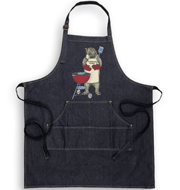 SF Mercantile CA Grillin' Bear Denim Apron