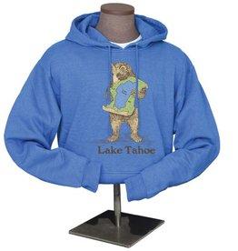 Lake Tahoe Blue Bear Hug Unisex Hoodie