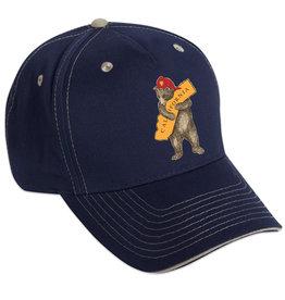 SF Mercantile CA Firefighter Bear Navy Blue Twill Cap