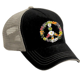 SF Mercantile Floral Peace Sign Trucker Hat