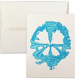 SF Peace Letterpress Card, Blue