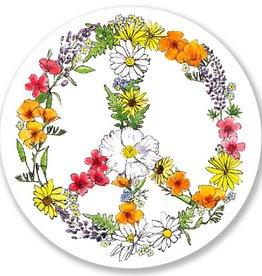 Floral Peace Sign Vinyl Sticker