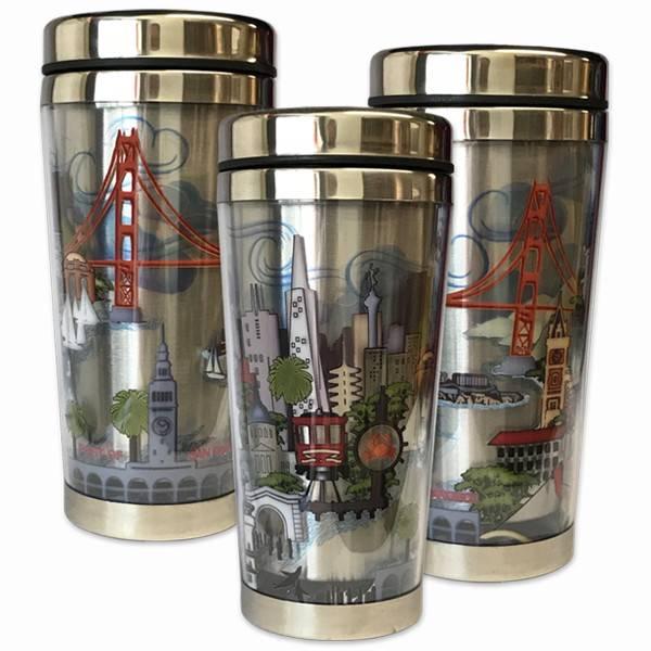 The City Stainless Steel Travel Mug