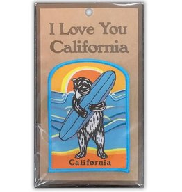 CA Surf Bear Embroidered Patch