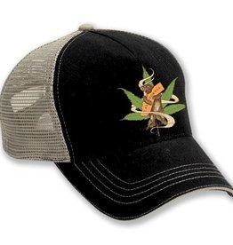 Cannabis CA Bear Hug Trucker Hat