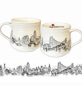 Heart in SF Coffee Mug