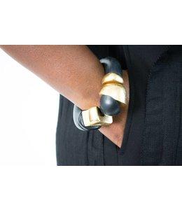 Monies Gold Leaf & Ebony Bracelet