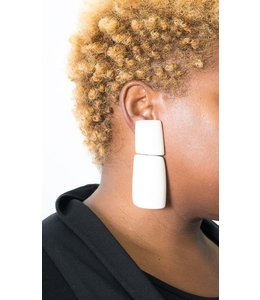 Monies Rectangle Bone Earring