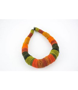 Ana Hagopian Stacked Paper Circle Necklace