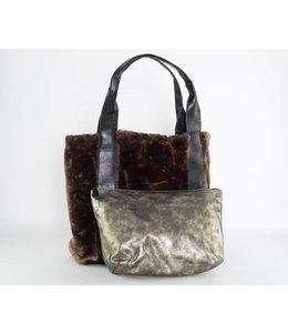 Sondra Roberts Reversible Fur Tote