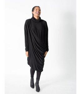 Planet Cowl Collar Dress