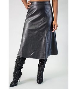 Gracia Leatherette A-Line Skirt
