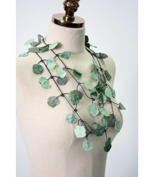 Annemieke Broenink Lace & Rubber Necklace