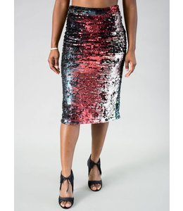 Traffic People Teagan Sequin Pencil Skirt