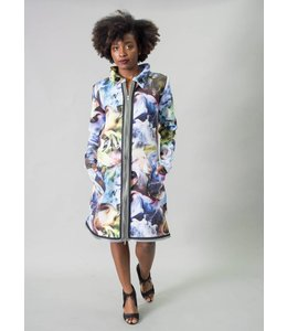 Colorful Smoke Coatdress