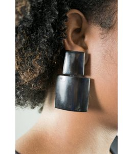 Monies Black Horn Earring