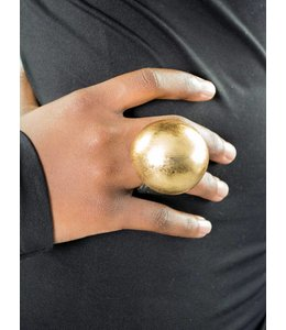 Monies Gold Foil Dome Ring