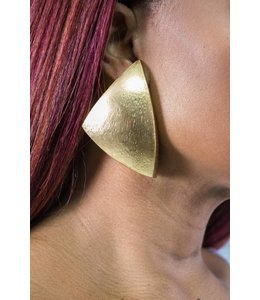 Monies Acasia Gold Foil Earring