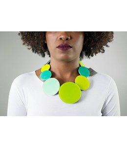 Monies Acrylic Circles Necklace