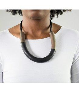 Leather Horseshoe Necklace