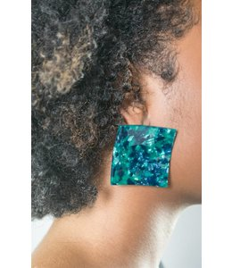 Bryant Brant Square Marble Earring