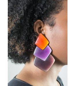 Monies 3-Tone Earring