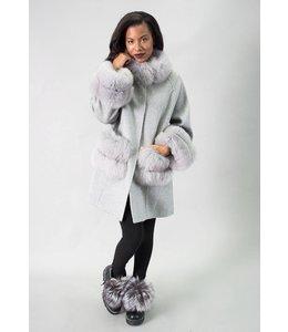 Cashmere Coat w/ Fox Trim