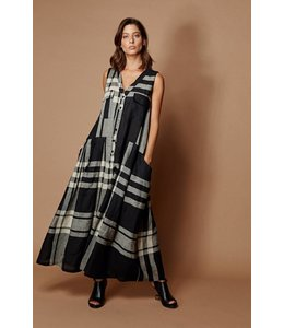 Alembika Pocket Plaid Dress