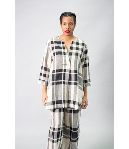 Alembika Plaid Linen Tunic