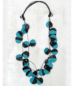 Sylca Double Strand Leather Necklace