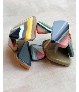 Sylca Designs Geometric Resin Bracelet