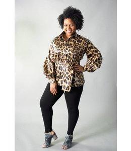 Tov Belted Leopard Blouse