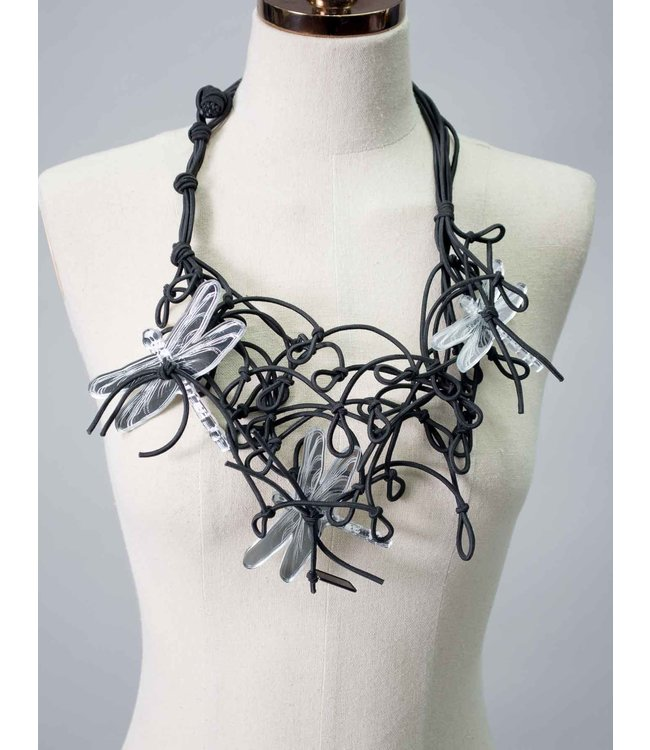 Igor Dobranic Dragonfly Mirror Necklace
