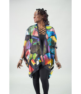 Evening Jewels Silk Kimono Jacket