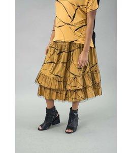 Matti Mamane Abstract Tulle Skirt