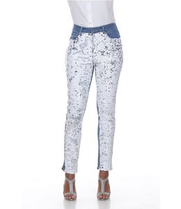 Sequin Front Denim